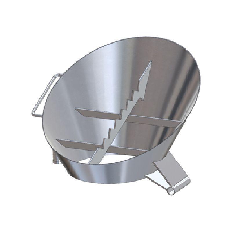 Приемная воронка 10/40, правая короткая А1, 130 мм