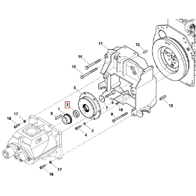 Втулка муфты мотор/компрессор DC 260/45-55