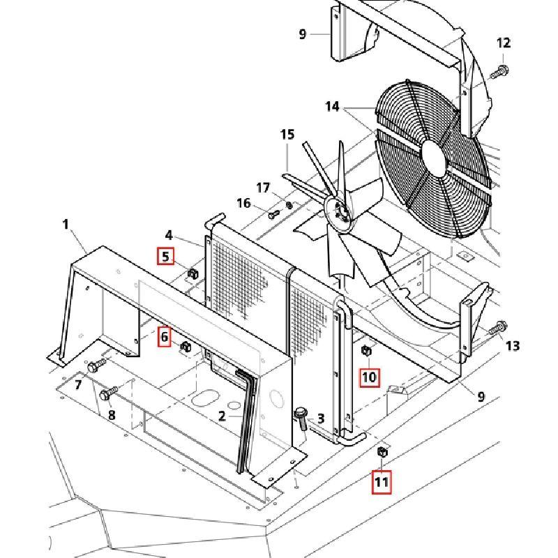 Клема-клипса с резьбой для крепления радиатора