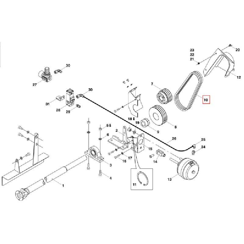 Клиновой ремень XPA1132 LW DIN 7753