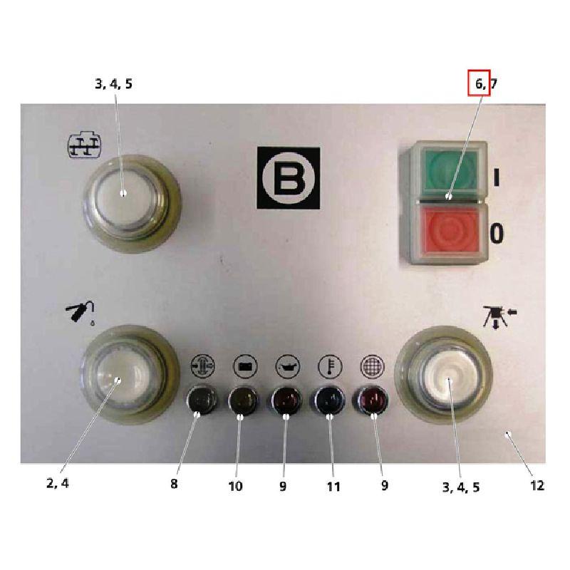 Кнопка вкл/выкл Typ ZB4 BW