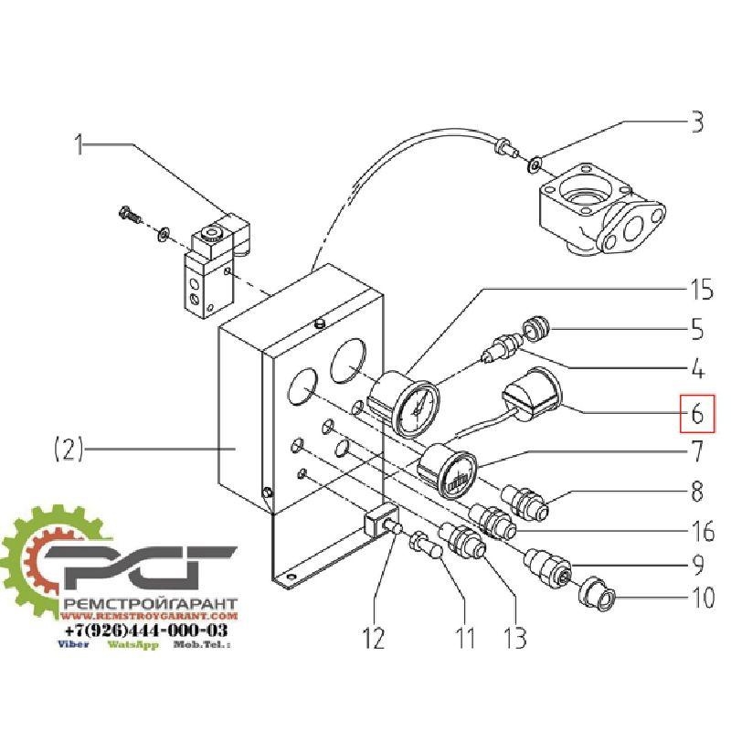 Манометр температуры компрессора