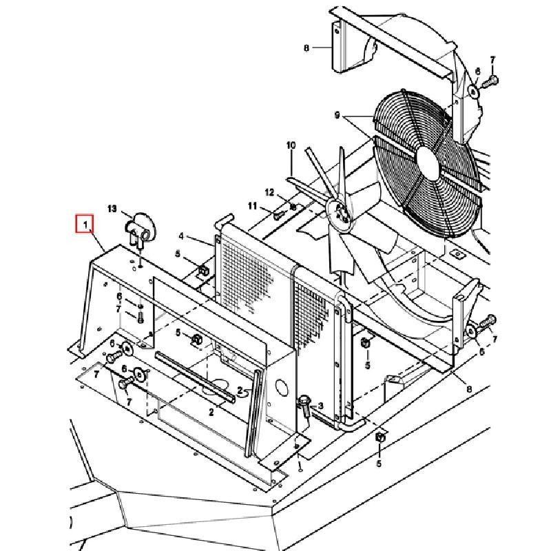 Металлический корпус крепления радиатора