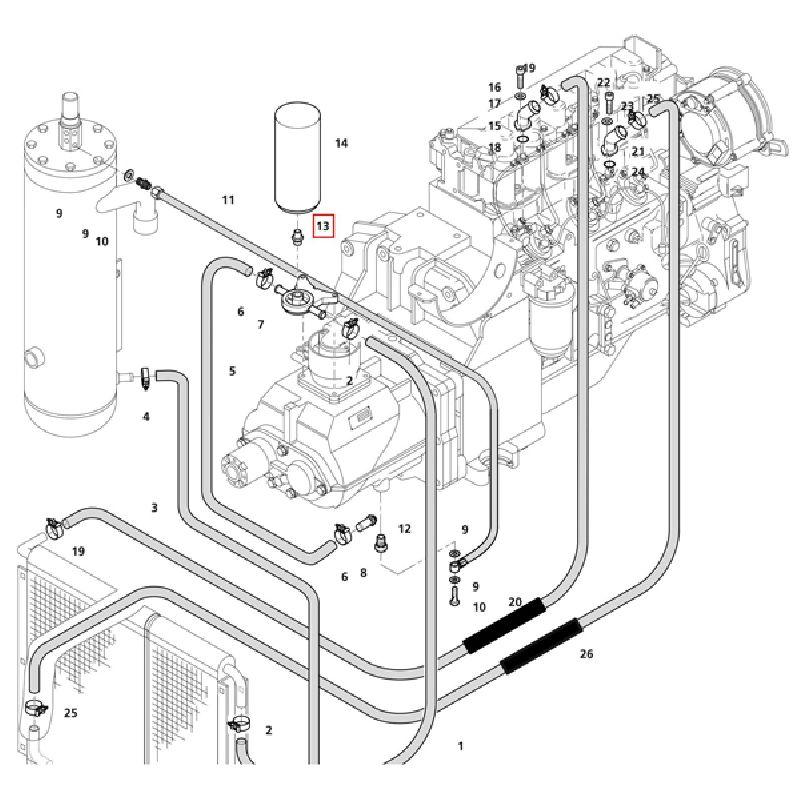 Ниппель масляного фильтра компрессора