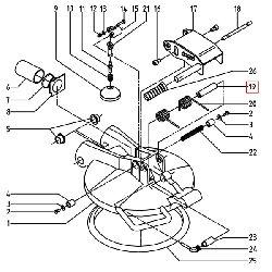 Ось крепления пружин.спуск.клапана