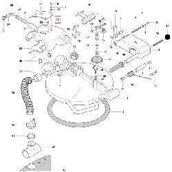 Откидной затворный клапан крышки смесителя