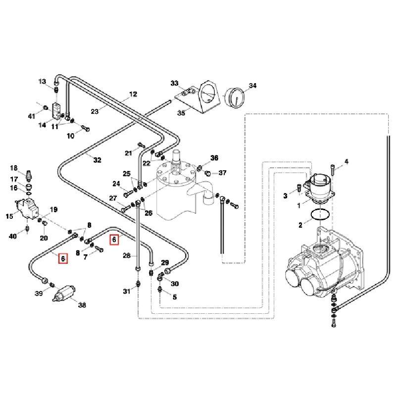 Пластиковая трубка для клапанов компрессора PUN-6X1-SW