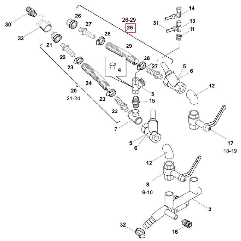 Воздушный шланг NW25 сборе