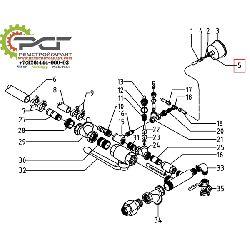 Резьбовое соединение манометра MAV 6-LR