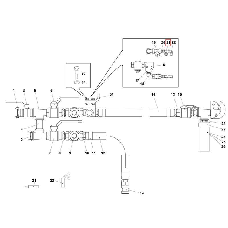 Резьбовое угловое соединение K-EL V 8L