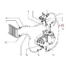Шланг компрессорного бака маслоотделителя