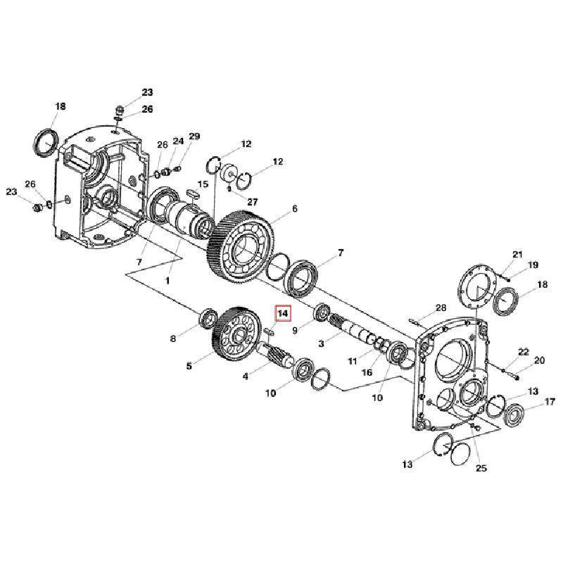 Шпонка редуктора А12x12x45 DIN 6885