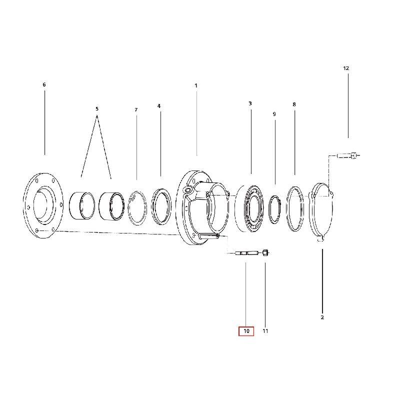 Штифт М10x35-8,8 DIN 939