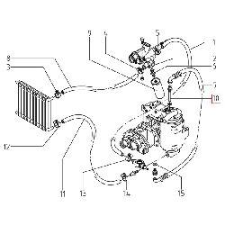 Трубка компрессорного бака маслоотделителя