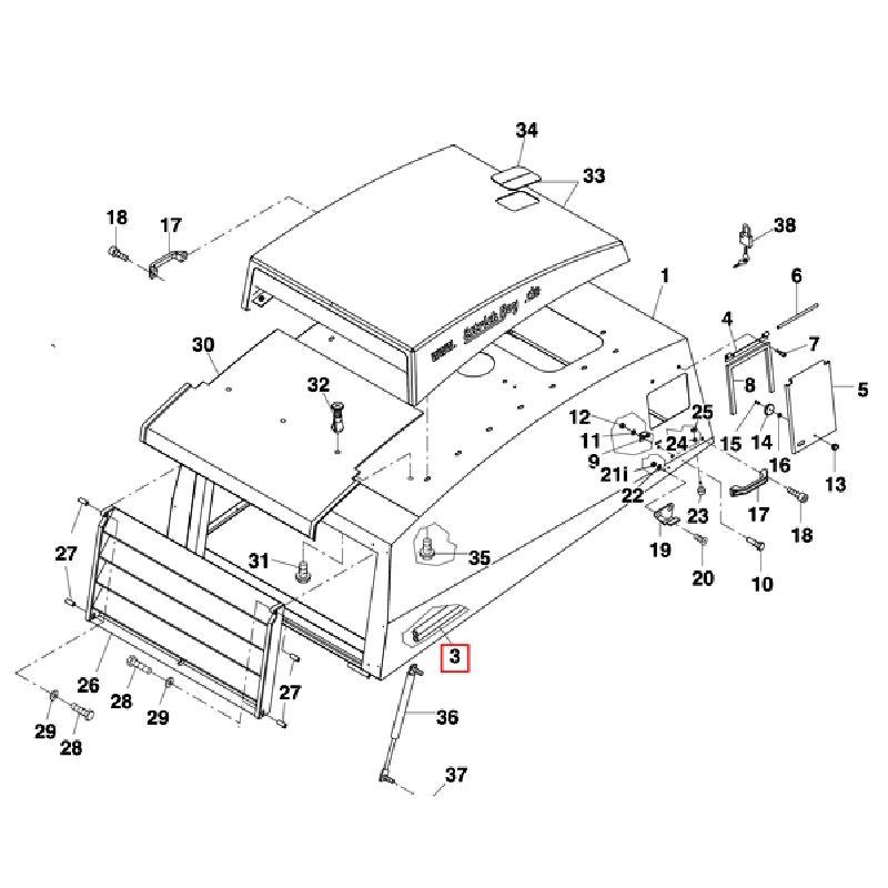Уплотнитель радиатора резиновый 450 мм