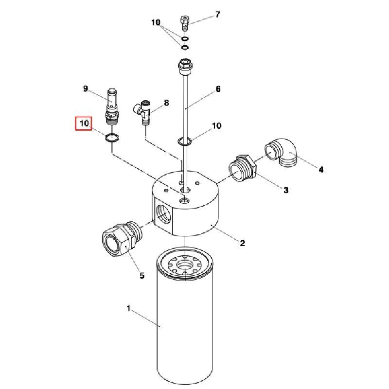 Уплотнительные шайбы основания сепаратора