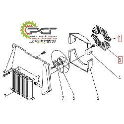 Защитная решетка вентилятора (2 части)